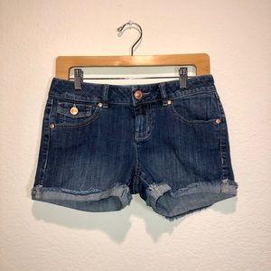 Lauren Conrad Medium-Wash Cuffed Jean Shorts